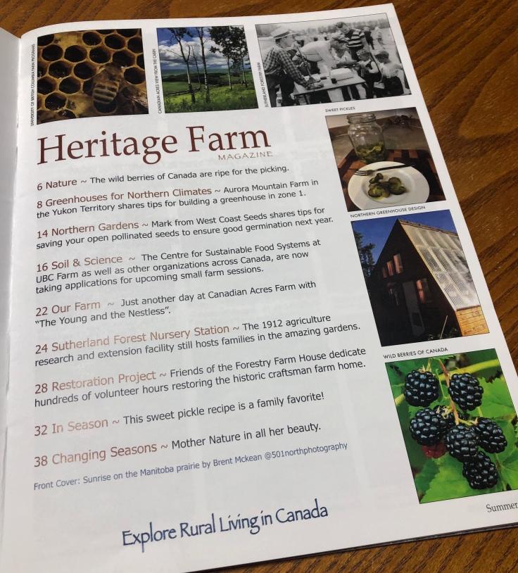 Heritage Farm Magazine